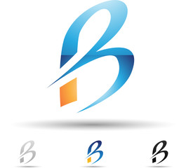 Vector illustration of abstract icons of letter B - Set 4