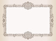 Vector Vintage frame. Decorated antique ornaments royal document