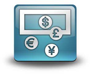 """Light Blue 3D Effect Icon """"Currency Exchange"""""""
