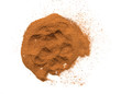 Cinnamon powder on a white background