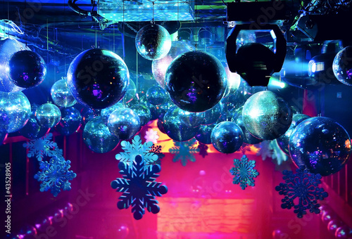 Disco ball at nightclub