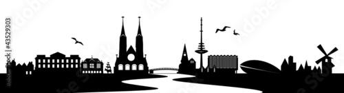 Bremen Skyline mit Weser
