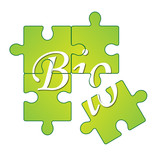 Abstract logo puzzle, Bio