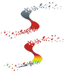 abstract diffusion swirl