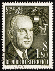 Postage stamp Austria 1960 Adolf Scharf, 6th President of Austri