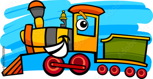 cartoon locomotive or train character