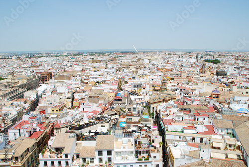 Aerial view of Seville seen from the Giralda, Spain