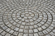Circular Stone  Pattern On Pavement