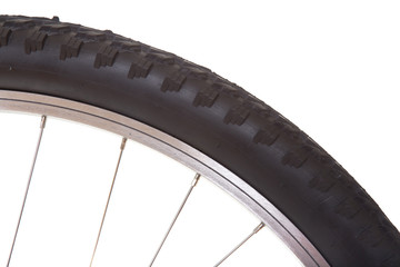 Mountain bike tire isolated
