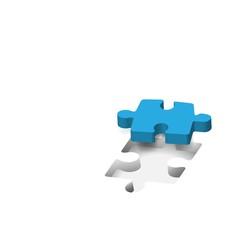 Puzzle, piece missing