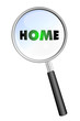 HOME MAGNIFYING GLASS cloud sphere ball words