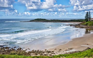 beach at yamba