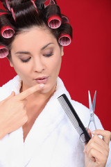woman ein hairdresser salon