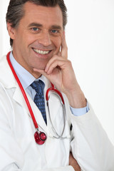 Portrait of a fulfilled medical doctor