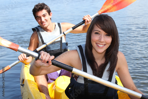 Couple in kayak