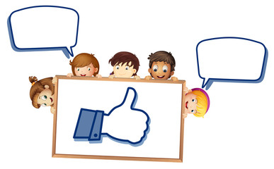 kids showing thumb picture