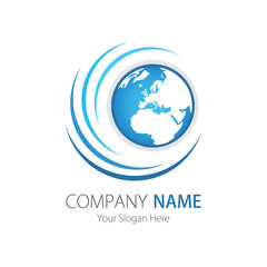 Company (Business) Logo Design, Vector, Arc, Globe