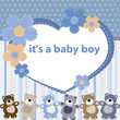 Greeting card with the birth of a baby boy