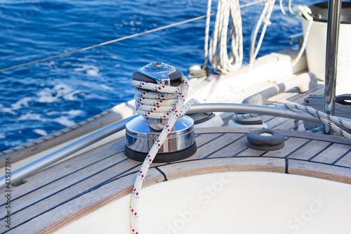 Winsch eines Segelbootes