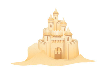 vector icon sand castle