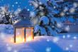 Leinwandbild Motiv Winterlicht