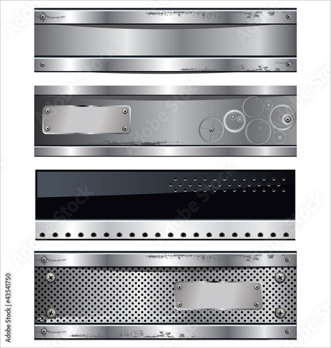 Abstract metal banners