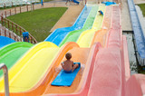 boy in aquapark