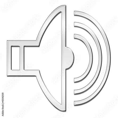 GamesAgeddon - Symbol: Lautsprecher, metall - Lizenzfreie Fotos ...
