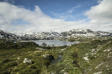 Mountain and lake in Norway