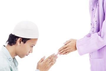 Muslims celebrating Eid ul-Fitr