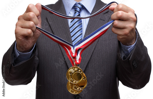 Awarding gold medal