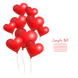 9 Red Heart Balloons