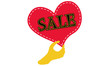 Red heart with hand: Hot Sale now!