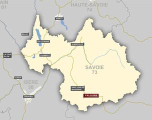 Carte et situation de Valloire