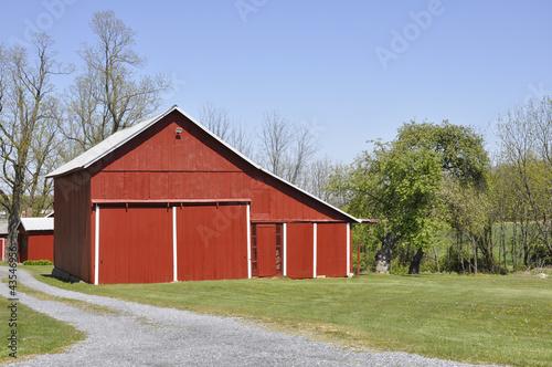 red barn in rural Pennsylvania
