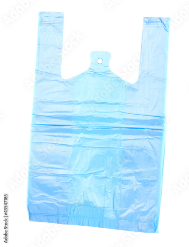 Cellophane bag isolated on white