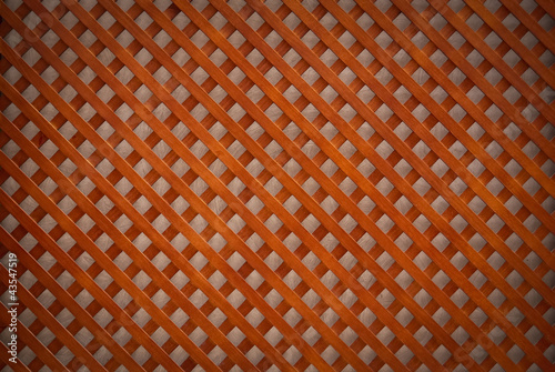 Diamond-shaped wooden slats background