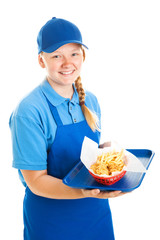 Teenage Fast Food Worker