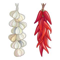 Garlic & red chili pepper