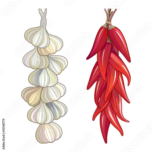 Garlic & red chili pepper