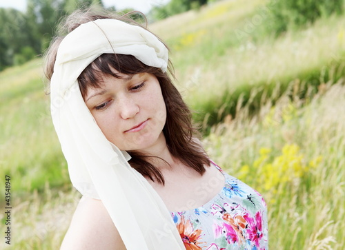 Dreamy Woman on the Meadow Portrait