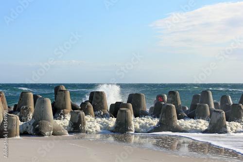 Tetrapoden als Küstenschutz auf Sylt - 43549108