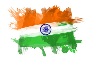 India Flag in Black Background
