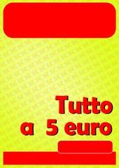 TUTTO A CINQUE 5 EURO ROSSO 01