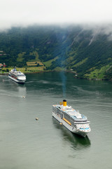 Liner floats in fjords