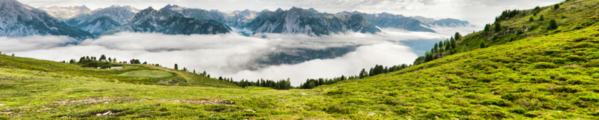 Beautiful panorama of Tyrol