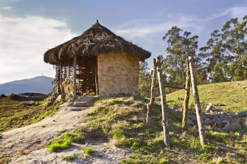 Reconstrucción de una cabaña en Castro Landim, Cuntis