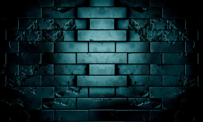 muro de ladrillos en escena nocturna