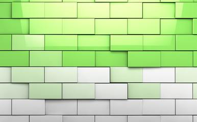 fondo abstracto de cubos en tono verde