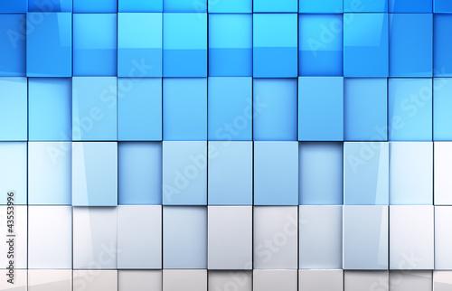 fondo abstracto de cubos en tono azul © carloscastilla